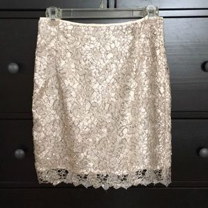 H&M Lace and Sequin Pencil Skirt size 4